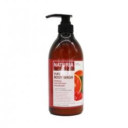 Evas Naturia Pure Body Wash Cranberry & Orange - Гель для душа с ароматом КЛЮКВА/АПЕЛЬСИН, 750мл
