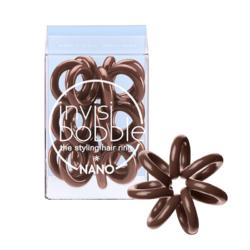 Invisibobble NANO Pretzel Brown  - Резинка-браслет для волос 3 штуки