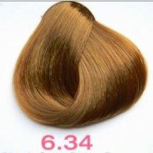 Nouvelle Lively Hair Color - Краска для волос 6.34 Медно-Золотистый Тёмный Блонд, 100 мл