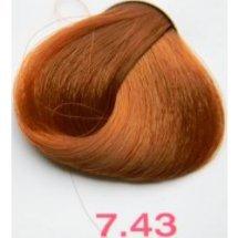 Nouvelle Lively Hair Color - Краска для волос 7.43 Золотисто-Медный Блонд, 100 мл
