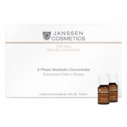 Janssen Fair Skin 2-Phase Melafadin Concentrate - Двухфазный Осветляющий Комплекс 7,5мл