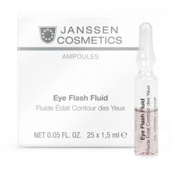 Janssen Cosmetics Ampoules Eye Flash Fluid - Увлажняющая и восстанавливающая сыворотка в ампулах для контура глаз 2мл