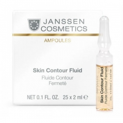 Janssen Cosmetics Ampoules Skin Contour Fluid Anti-age - Лифтинг-сыворотка в ампулах с пептидами, стимулирующими синтез эластина 2мл