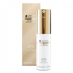 Janssen Mature Skin Tri-Care Eye Cream - Омолаживающий укрепляющий крем для контура глаз 15мл