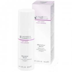 Janssen Cosmetics Oily Skin Microsilver Serum - Сыворотка с антибактериальным действием для жирной кожи 30мл