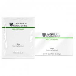 Janssen Cosmetics Olive-Hydration - Альгинатная anti-age ультраувлажняющая маска с маслом оливы и экстрактом оливковых листьев, 10*50 гр