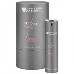 Janssen Platinum Care Eye Cream - Реструктурирующий крем для глаз с пептидами и коллоидной платиной 15мл