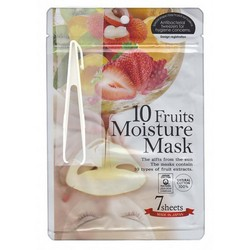 Japan Gals - Маски для лица с экстрактом 10 фруктов, 7 шт