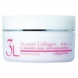 Japan Gals 3Layers Collagen Cream - Крем увлажняющий с 3 слоями коллагена, 60 г
