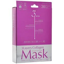 Japan Gals 3Layers Collagen Mask - Маска для лица с 3 видами коллагена, 30 шт