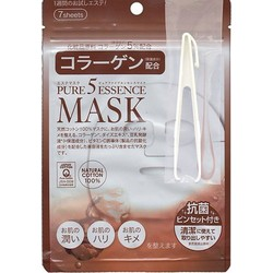 Japan Gals Pure 5 Essential - Питательные маски для лица с коллагеном, 7 шт