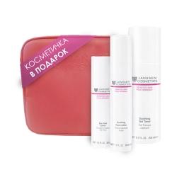 """Janssen Sensitive skin - Подарочный набор """"Нежное прикосновение"""" в розовой фирменной косметичке"""