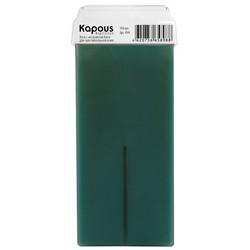 Kapous Depilations - Воск жирорастворимый Алоэ, с широким роликом, 100 мл