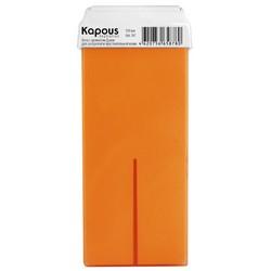 Kapous Depilations - Воск жирорастворимый Дыня, с широким роликом, 100 мл