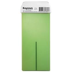Kapous Depilations - Воск жирорастворимый Киви, с широким роликом, 100 мл