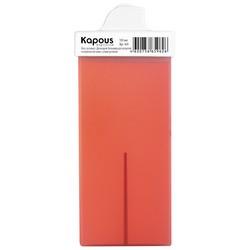 Kapous Depilations - Воск жирорастворимый Розовый Диоксидом Титаниума, с узким роликом, 100 мл