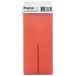 Kapous Depilations - Воск жирорастворимый Розовый, с Диоксидом Титаниума, с широким роликом, 100 мл