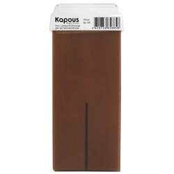 Kapous Depilations - Воск жирорастворимый с ароматом Шоколада, с широким роликом, 100 мл