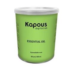 Kapous Depilations - Воск жирорастворимый с маслом Базилика, 800 мл