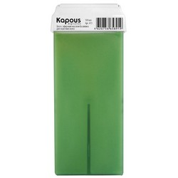 Kapous Depilations - Воск жирорастворимый с маслом Базилика, с широким роликом, 100 мл
