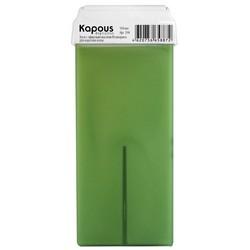 Kapous Depilations - Воск жирорастворимый с маслом Розмарина, с широким роликом, 100 мл
