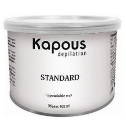 Kapous Depilations - Воск жирорастворимый Синий с Азуленом, 400 мл