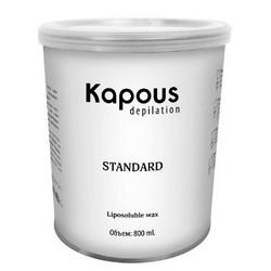 Kapous Depilations - Воск жирорастворимый Синий с Азуленом, 800 мл