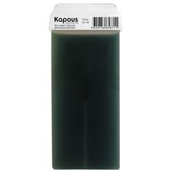 Kapous Depilations - Воск жирорастворимый Синий с Азуленом, с широким роликом, 100 мл