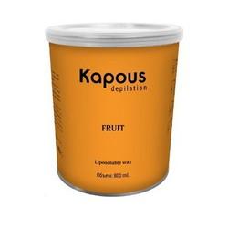 Kapous Depilations - Воск жирорастворимый Зеленое Яблоко, 800 мл