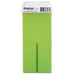Kapous Depilations - Воск жирорастворимый Зеленое Яблоко, с широким роликом, 100 мл