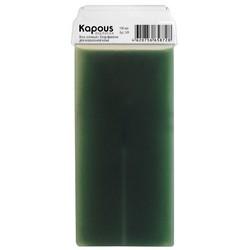 Kapous Depilations - Воск жирорастворимый Зеленый с Хлорофиллом, с широким роликом, 100 мл