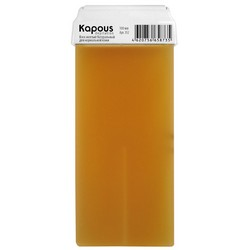 Kapous Depilations - Воск жирорастворимый Желтый, Натуральный, с широким роликом, 100 мл
