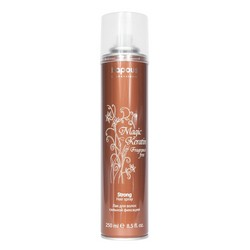 Kapous Fragrance Free Magic Keratin - Лак для волос сильной фиксации, с кератином, 250 мл