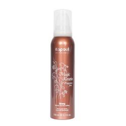 Kapous Fragrance Free Magic Keratin - Мусс сильной фиксации, с кератином, 150 мл