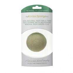 The Konjac Sponge Company Premium Facial Puff with French - Спонж для умывания лица с зеленой глиной