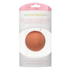 The Konjac Sponge Company Premium Facial Puff with Pink Clay - Спонж для умывания лица с розовой глиной