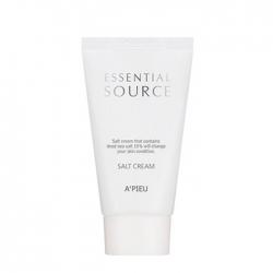 A'Pieu Essential Source Salt Cream - Крем для лица Оздоравливающий с солью мёртвого моря 60 мл