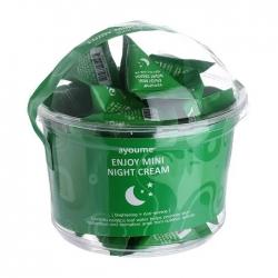 Ayoume Enjoy Mini Night Cream - Крем ночной для лица, 30*3г