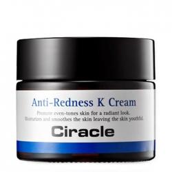 Ciracle Anti-Redness K Cream - Крем для лица Регенерирующий с витамином К, 50 мл