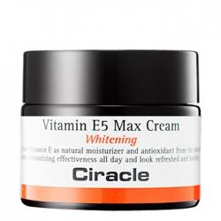 Ciracle Vitamin E5 Max Cream - Крем для лица Осветляющий и увлажняющий 50 мл