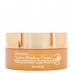 Deoproce Fermentation Active Healing Cream -  Оздоравливающий крем с ферментированными экстрактами, 100 мл