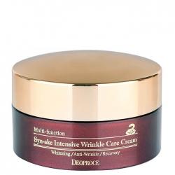 Deoproce Synake Intensive Wrinkle Care Cream - Крем для лица со змеиным ядом, 100 г