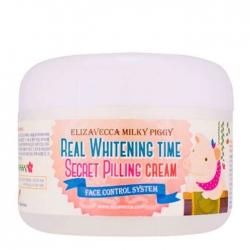 Elizavecca Real Whitening Time Secret Pilling Cream - Пилинг-крем для лица осветляющий, 100 г