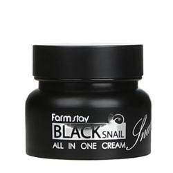 FarmStay Black Snail All In One Cream - Крем для лица с муцином черной улитки, 100мл