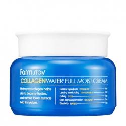 FarmStay Collagen Water Full Moist Cream - Крем для лица Коллагеновый для сухой кожи, 100мл