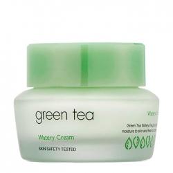It's Skin Green Tea Watery Cream - Крем для лица Увлажняющий с экстрактом зелёного чая, 50 мл