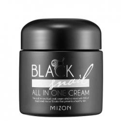 Mizon Black Snail All In One Cream - Крем многофункциональный с экстрактом черной улитки, 75 мл