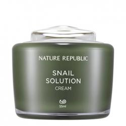 Nature Republic Snail Solution Cream - Крем для лица с экстрактом улиточного муцина, 55мл