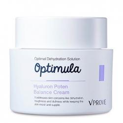 Vprove Optimula Hyaluron Poten Balance Cream - Крем для лица Универсальный увлажняющий с гиалуроновой кислотой, 50 мл