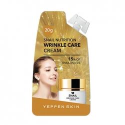 Dermal Yeppen Skin Snail Nutrition Wrinkle Care Cream - Крем для лица с секретом улитки, 20 мл